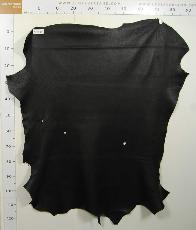 Hirschleder Nappa schwarz 1,0-1,2 mm Hirschnappa Lederhaut #h145