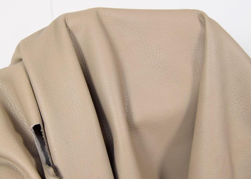 Ziegenleder soft glatt silber-metallic glänzend 0,6-0,8 mm #5286