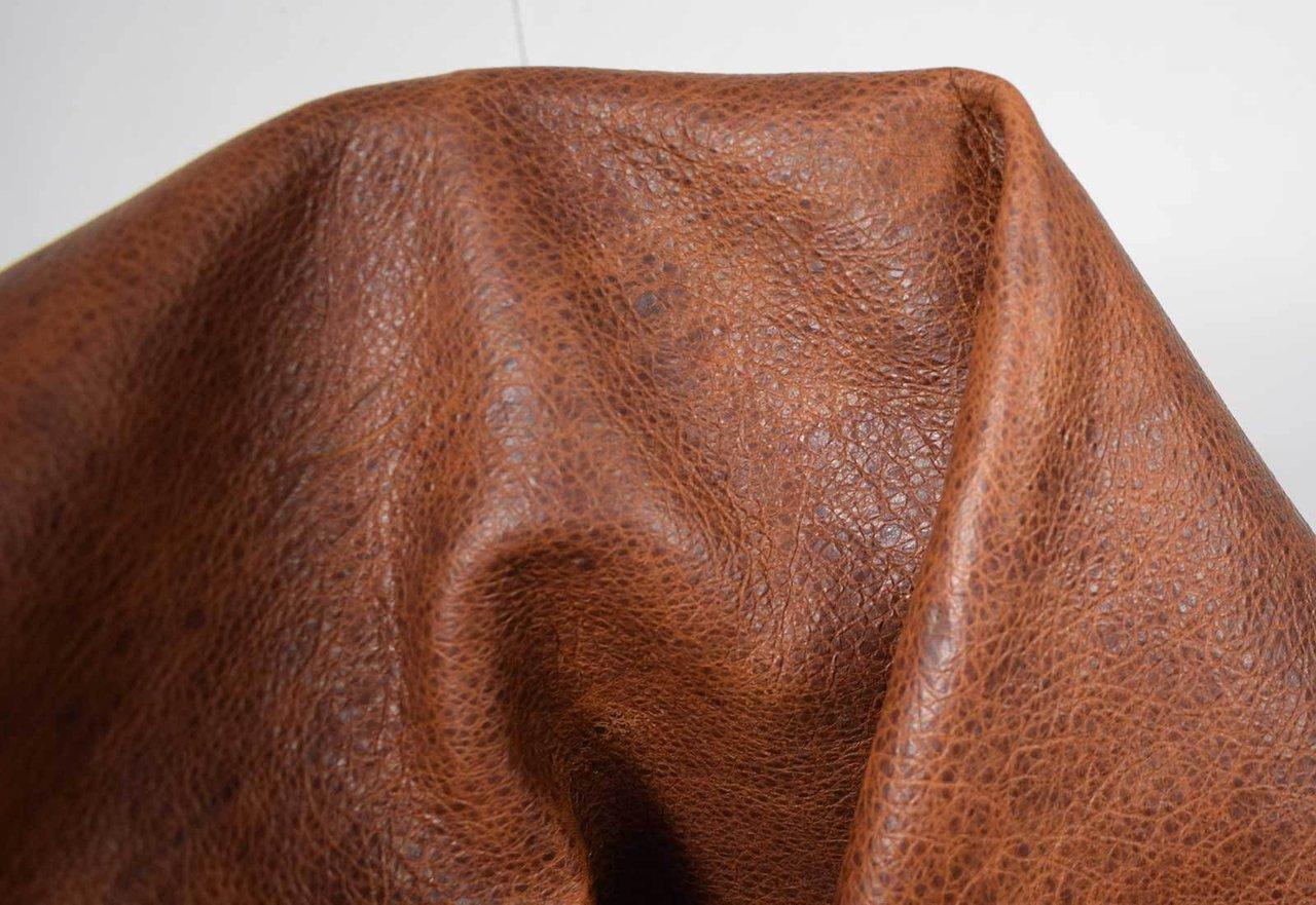 Steinbockleder Nappa Lederhaut natur braun 1,4 1,6 mm