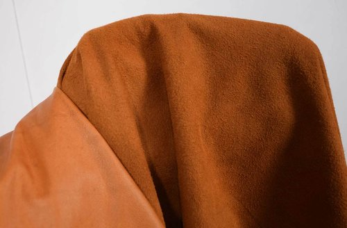 Rentierleder Soft-Velours cognac-braun 0,5-0,7 mm #n153