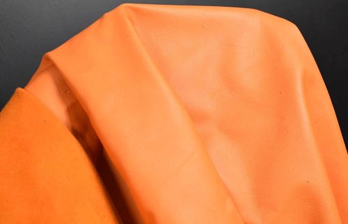 Rentiernappaleder soft orange naturell 0,8-1,0 mm Leder #n158