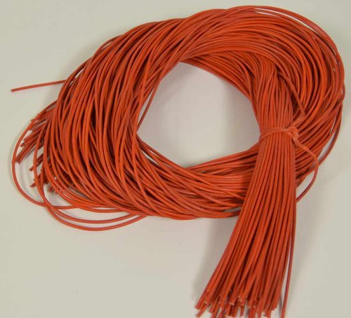 Lederschnur rund orange 2 mm / 1 m Lederband Lederriemen vegetabile Gerbung
