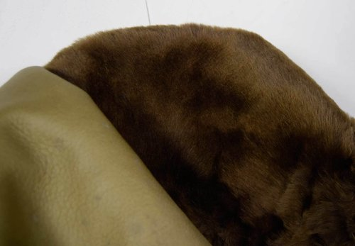 "Spanisches Entrefino Lammfell Double-Face Shearling für Bekleidung Farbe ""tundra"" #lf25"