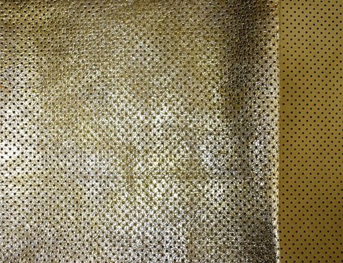 Taschenleder soft perforiert gold metallic Used Look 1,6-1,8 mm Leder #1705